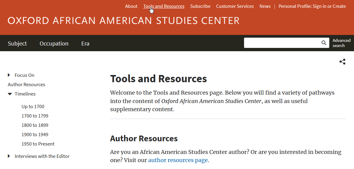 AASC tools and resources