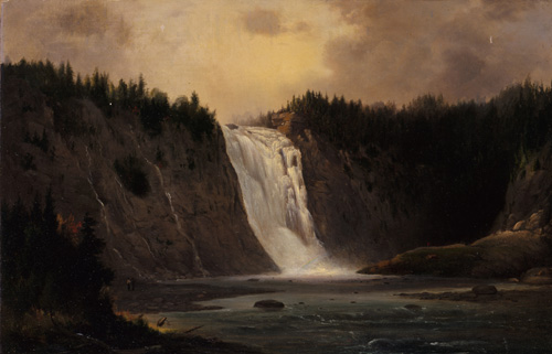 Landscape painting: Waterfall at Mont-Morency (1864)