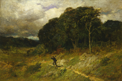 Landscape painting: Approaching Storm (1886)