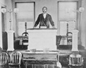 Charles O. Campbell in the pulpit