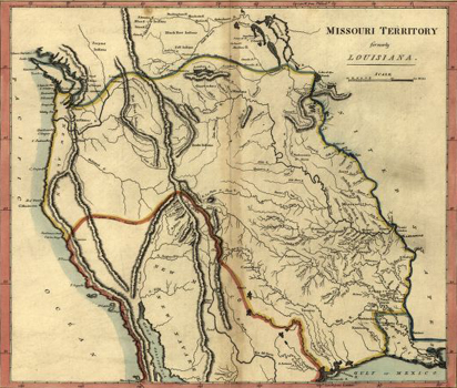 Map of Missouri Territory, c. 1814