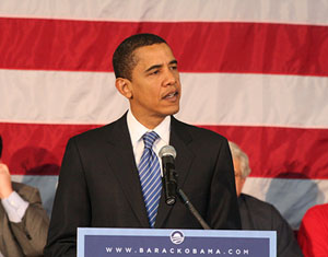 Barack Obama campaigns for the presidency, 2008